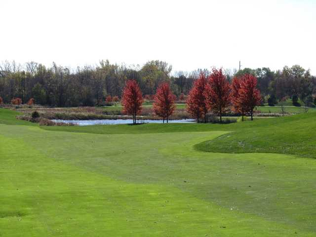 A fall day view from Makray Memorial Golf Club.