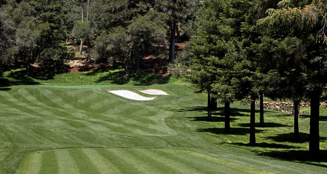 A view from tee #3 at Meadowood Resort Hotel.
