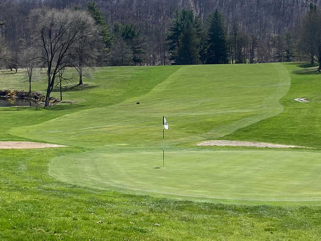 View of a green at Huntingdon Country Club.