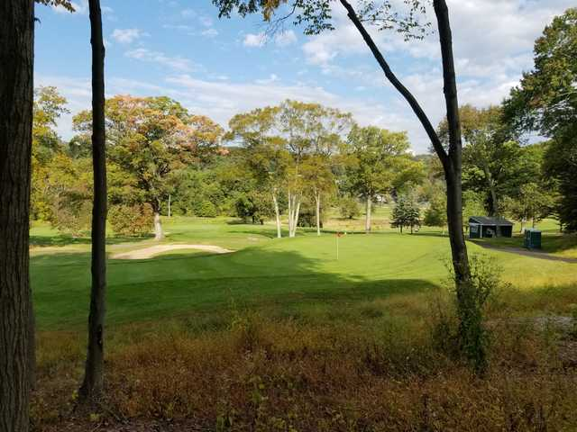 View of the 5th green at Francis Byrne Golf Course.