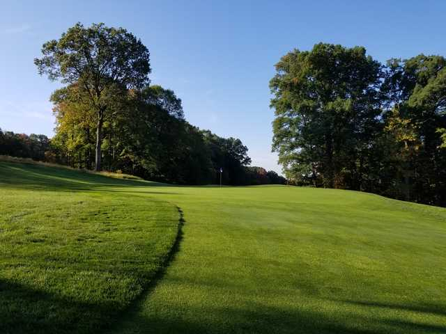 View of a green at Francis Byrne Golf Course.