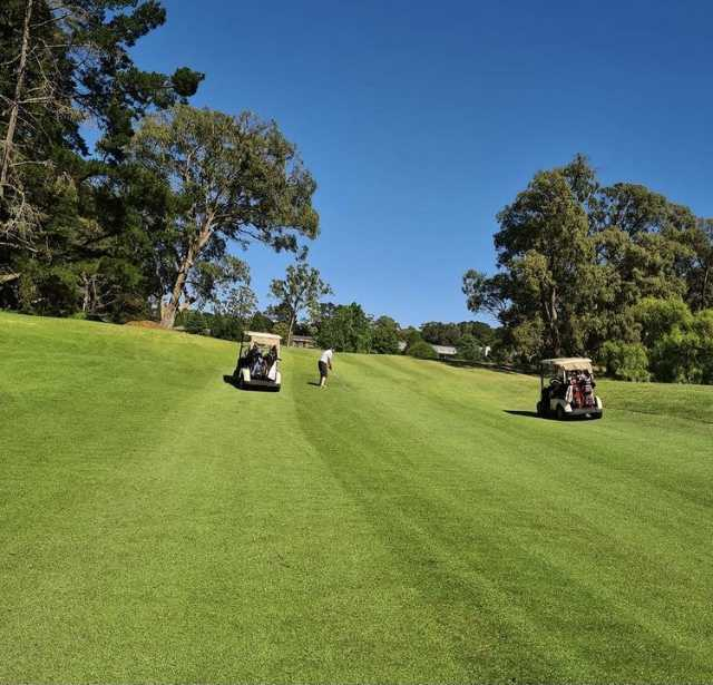 View from a fairway at Gibraltar Country Club.