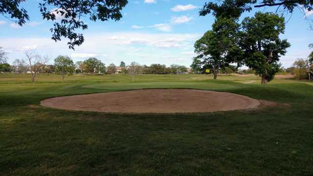 view of the 7th green at Winthrop Golf Club.