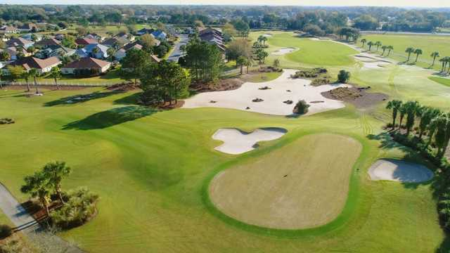 Aerial view from Candler Hills Golf Club.