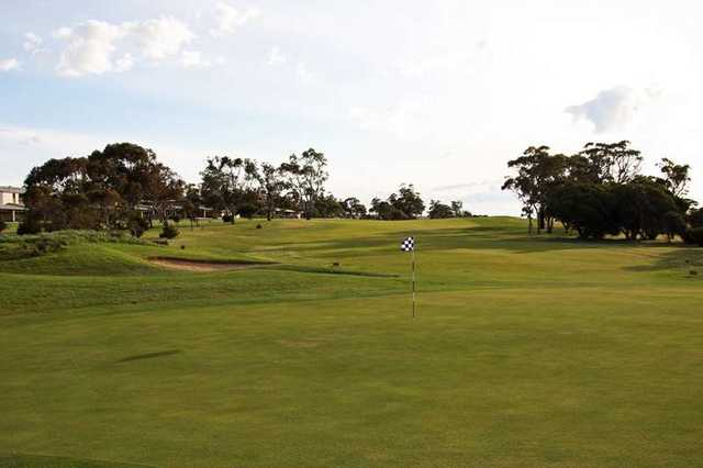 A view of the 10th hole at Wirrina Cove Golf & Country Club.