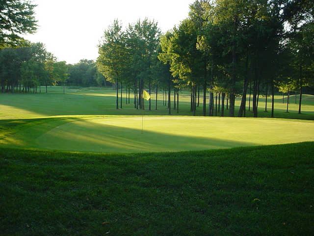 View of the 6th green at Woodside Golf Course.