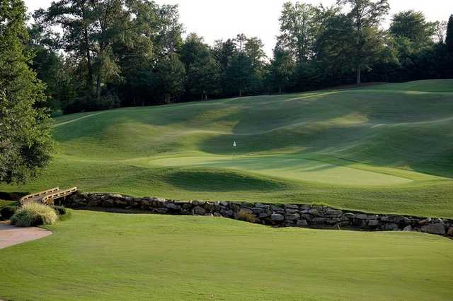 A view of the 8th green at Golf Club from Ballantyne
