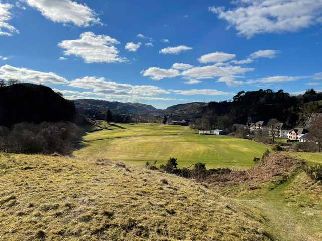 A sunny day view from Glencruitten Golf Club.