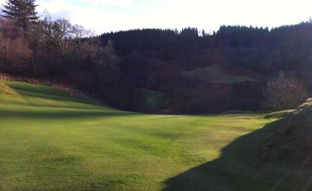 A view of a green at Glencruitten Golf Club.