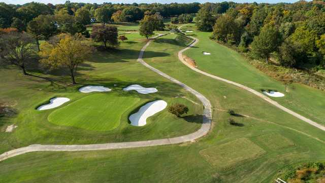 Aerial view from Belmont Golf Course.
