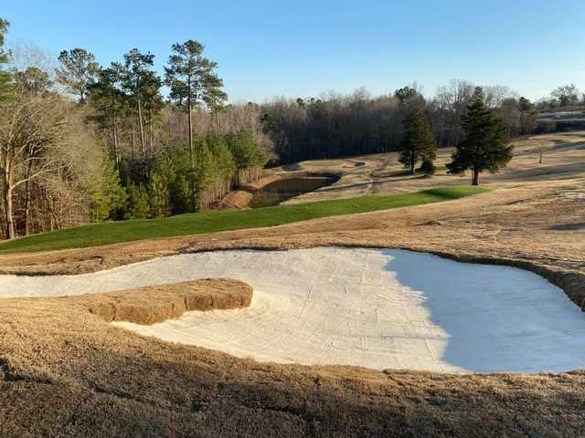 View of a green at Ware Shoals Golf Course.