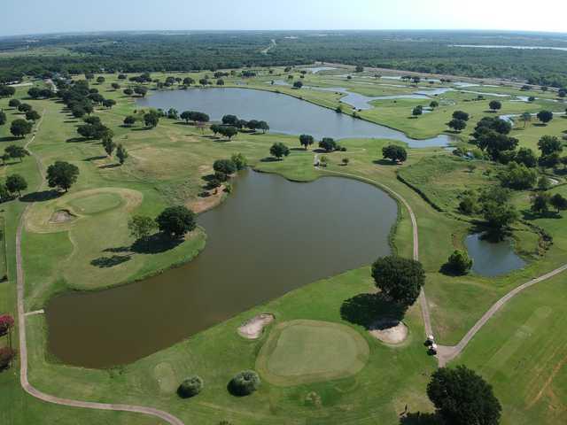 Aerial view of the Kings Creek Golf Club.