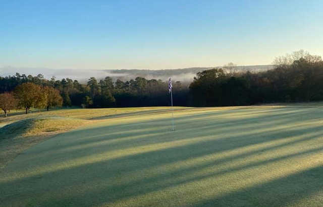 A view of a green at Ware Shoals Golf Course.