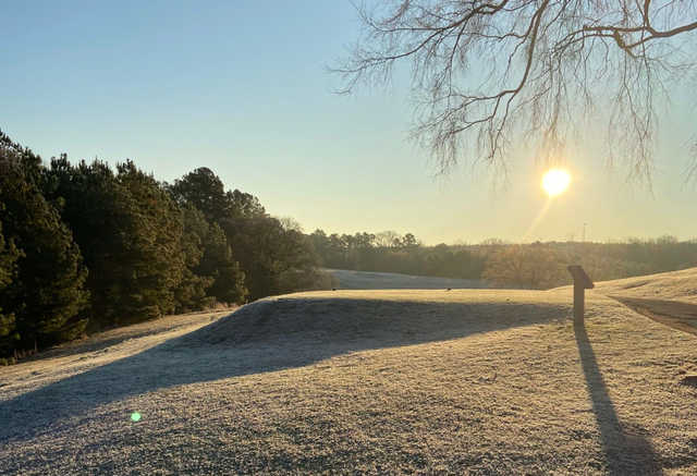 A view of a tee at Ware Shoals Golf Course.