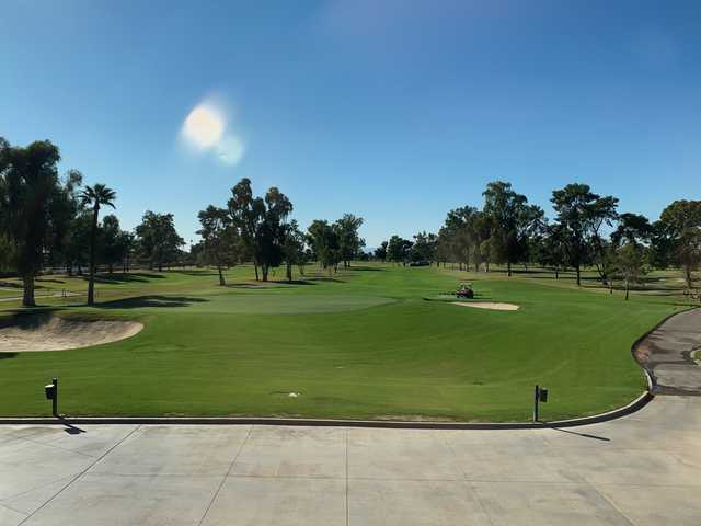 A sunny day view from Grand Canyon University Golf Course.