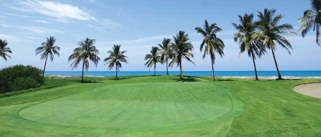 A view of a hole at Estrella del Mar Golf and Beach Resort.