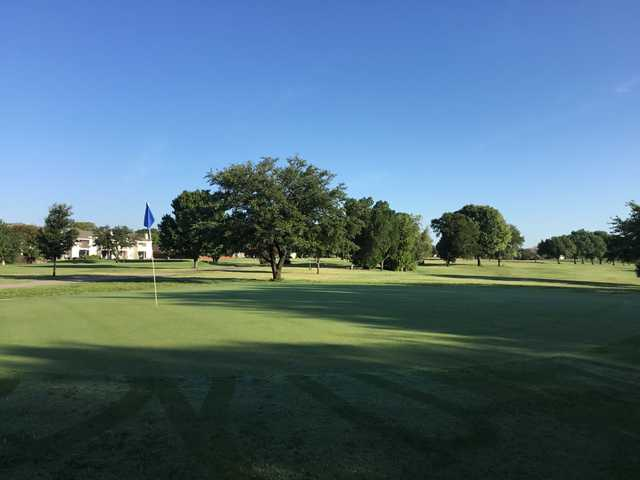 A view of a hole at Waxahachie Golf Club.