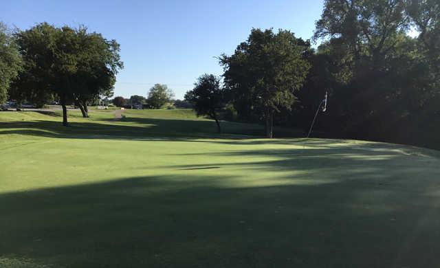 A view of a green at Waxahachie Golf Club.