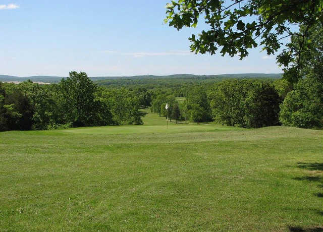 A view of the 9th hole at Valley Course from Terre Du Lac Golf & Country Club.