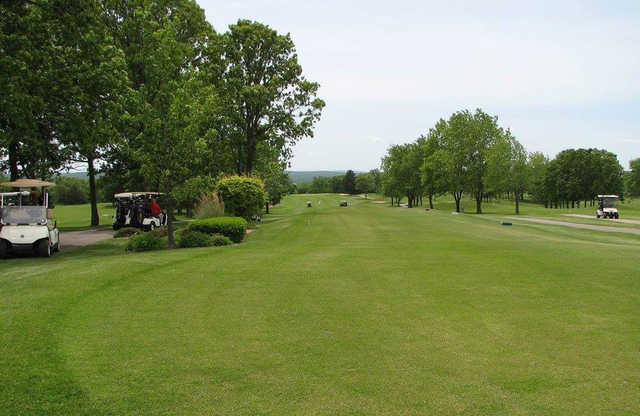 A view of the 10th fairway at Skyview Course from Terre Du Lac Golf & Country Club.