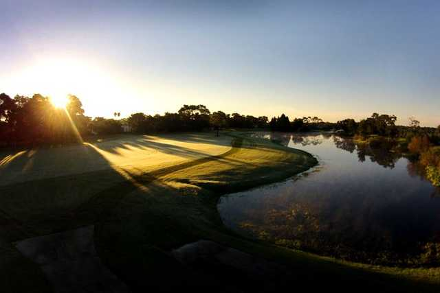 A view from GlenLakes Country Club.