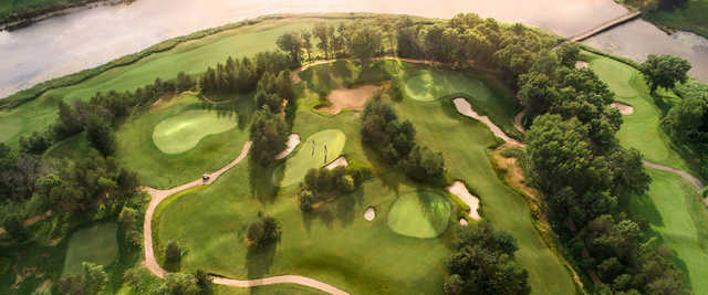 Aerial view from 12North Par-3 at Trappers Turn Golf Club.