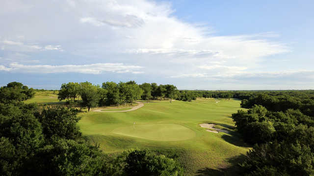 View of the 16th hole at ShadowGlen Golf Club.
