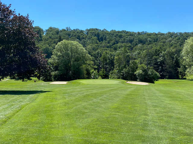 View of the 17th hole at Huntingdon Country Club.