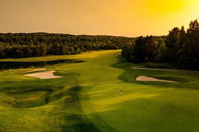 View of a green at Hawk's Eye Golf Resort.