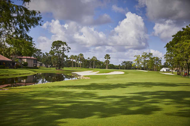 View of the 5th hole from the West Course at Boca Lago Country Club.