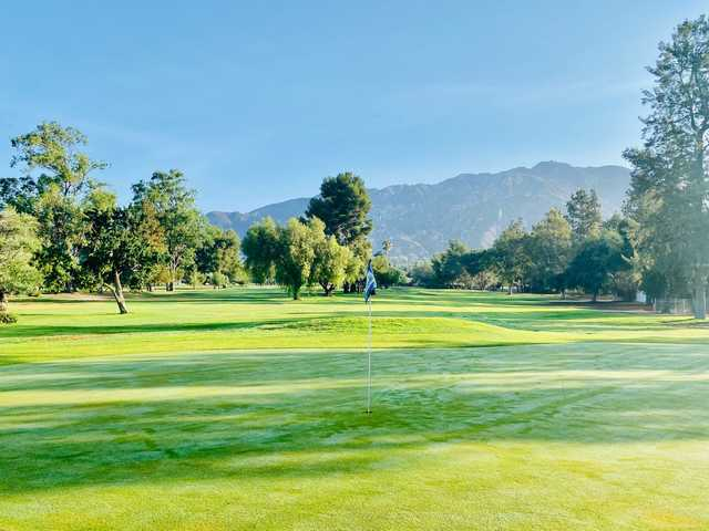 View from a green at Altadena Golf Course.