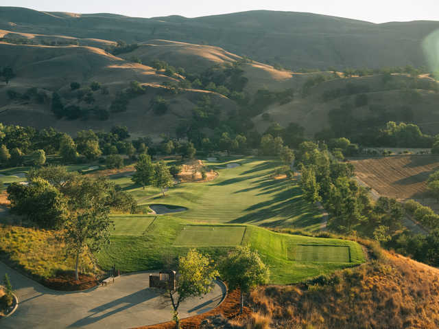 View from the 1st tee at Yocha Dehe Golf Club at Cache Creek Casino Resort.