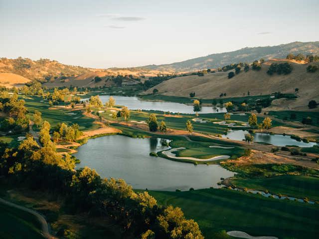 View of the 4th hole at Yocha Dehe Golf Club.