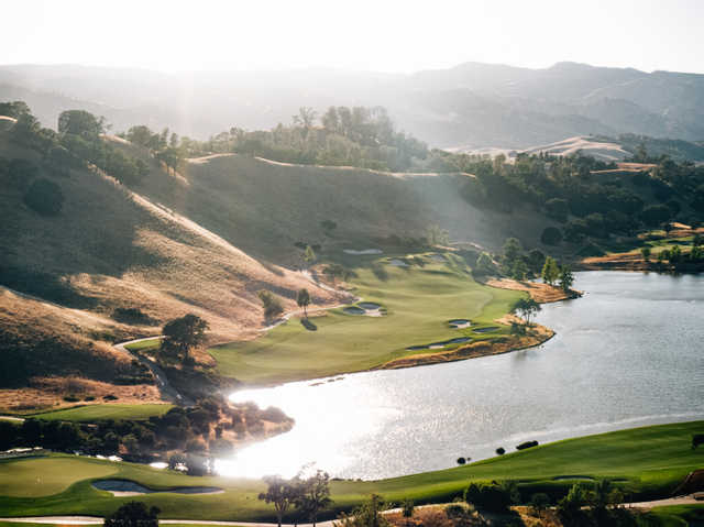 View of the 10th hole at Yocha Dehe Golf Club at Cache Creek Casino Resort.