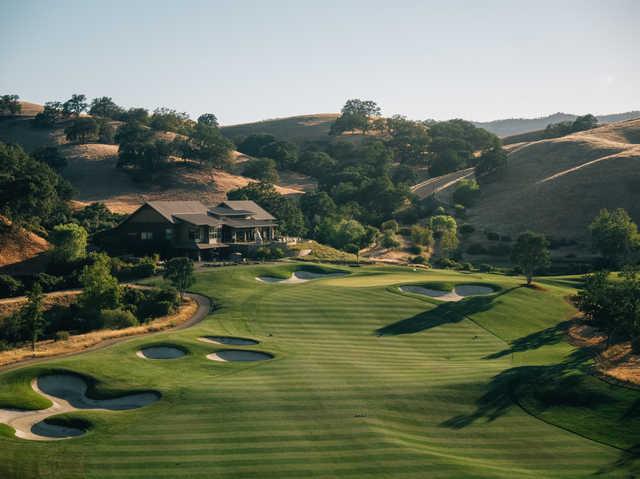 View of the 9th hole at Yocha Dehe Golf Club at Cache Creek Casino Resort.