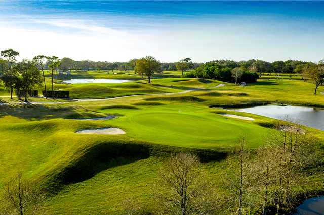 View of the 8th green at Chi Chi Rodriguez Golf Club.