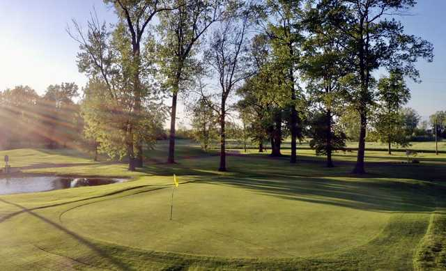 View of a green at Hillcrest Golf Club.