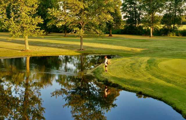 View of a pond at Fostoria Country Club.