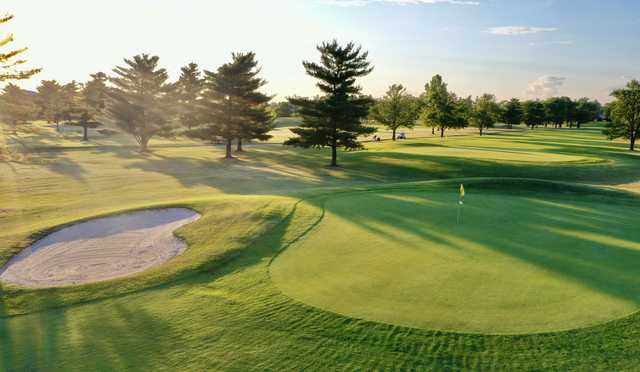 View of a green at Fostoria Country Club.