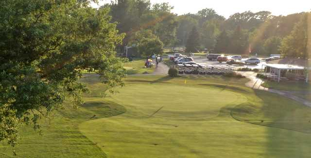 View of the 9th green at Loudon Meadows Golf Club.