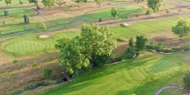 Aerial view from Loudon Meadows Golf Club.