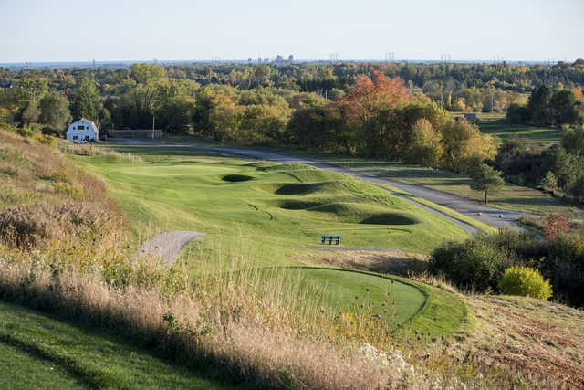 View of the 6th hole from Bunker Hill Golf Club.