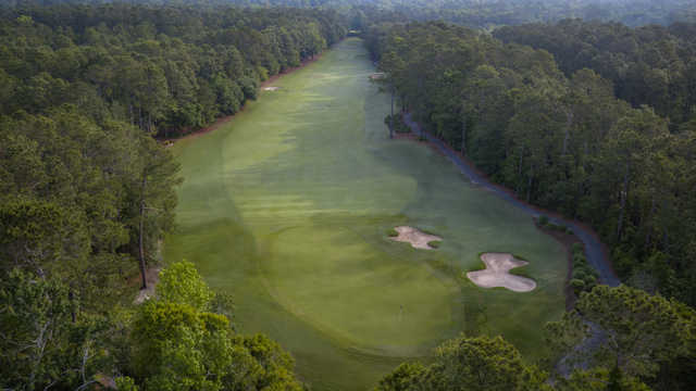 Aerial view of the 15th green at The Heritage Club.
