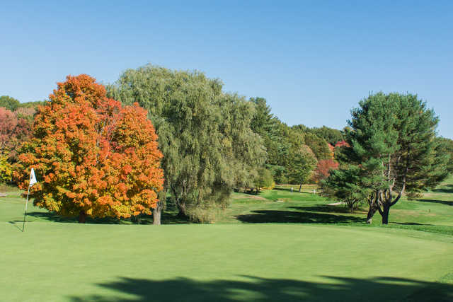 View from the 3rd green at Maynard Golf Course.