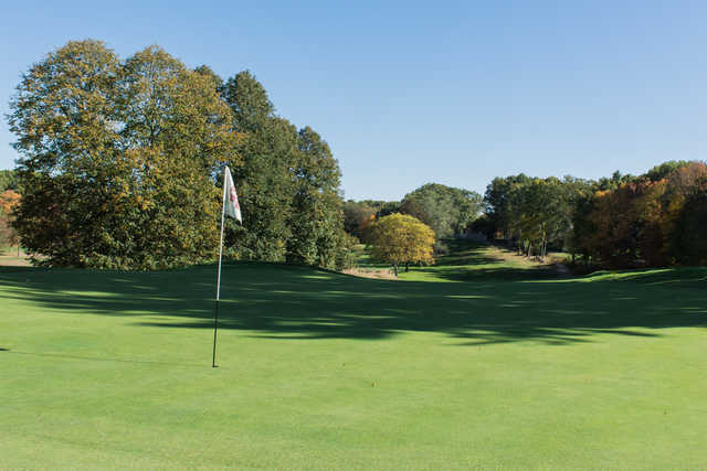 View from the 9th green at Maynard Golf Course.