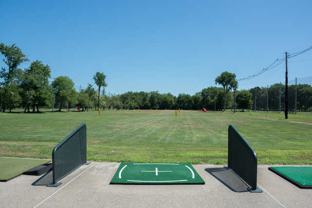 A view from the driving range at Norwood Country Club.