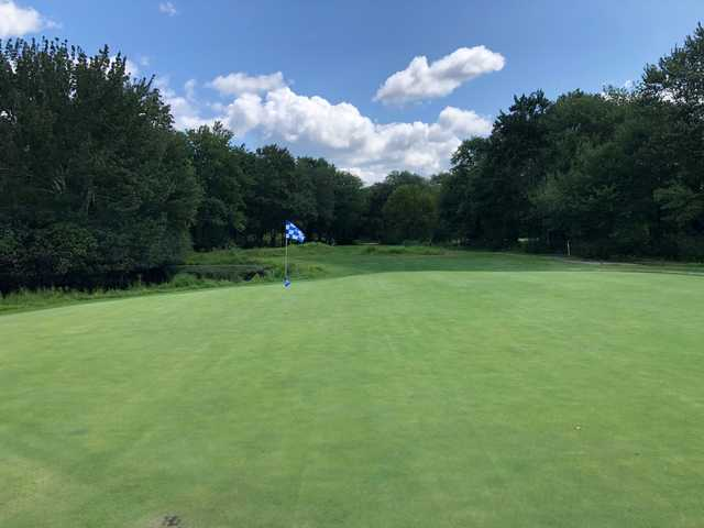 View of a green at Norwood Country Club.