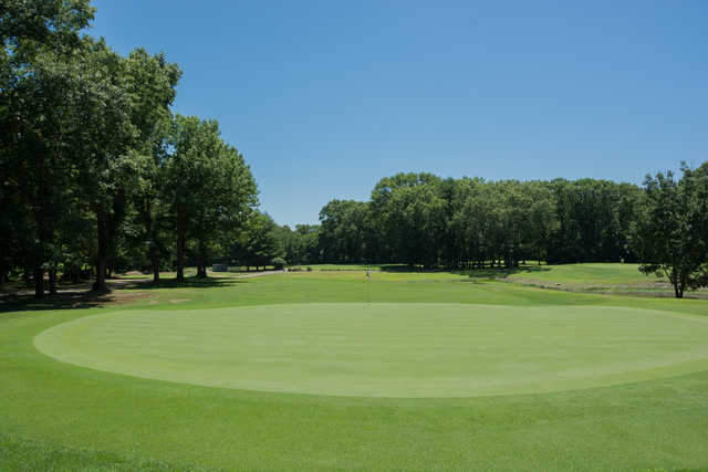 View from a green at Rockland Golf Course.