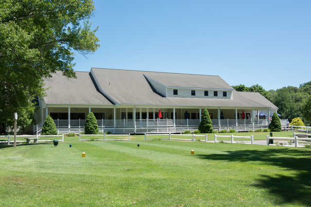 View of the clubhouse at Rockland Golf Course.