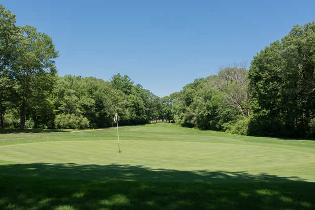 Looking back from a green at Rockland Golf Course.